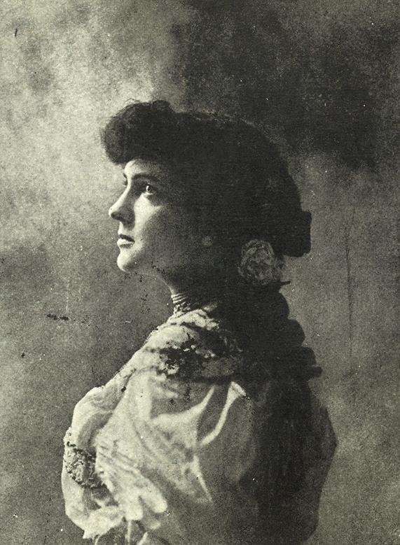 Delmira Agustini (Imagen: Tomada de Obras completas de Delmira Agustini. Máximo García, 1924 / Fondos BNE)