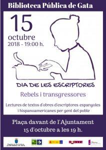 Cartel de la actividad de Gata de Gorgos (Alicante)