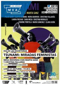 IES Cánovas del Castillo (Málaga). Cartel Tsunami: miradas femeninas