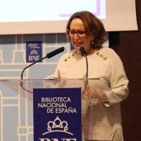 2017 Rebeca Grynspan lee a Gertrudis Gómez de Avellaneda